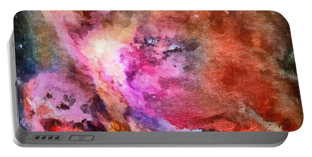 The Orion Nebula Portable Battery Charger featuring the painting The Orion Nebula by Dan Sproul