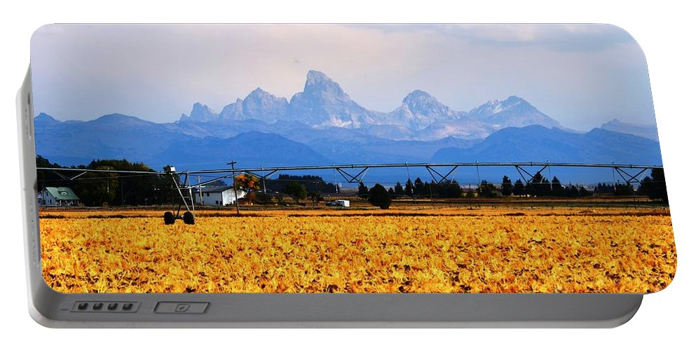 Grand Tetons Portable Battery Charger featuring the photograph The Other Side by Deanna Cagle