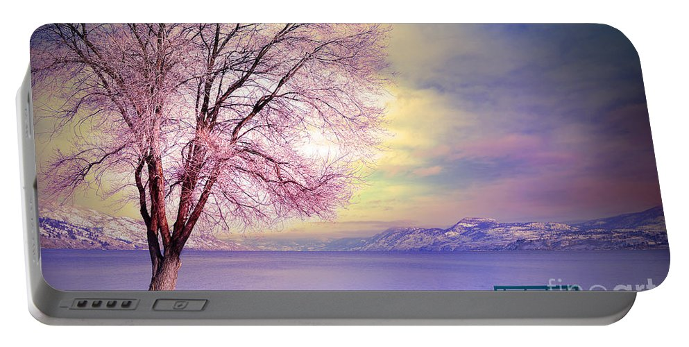 Bench Portable Battery Charger featuring the photograph The Pastel Dreams Of Winter by Tara Turner