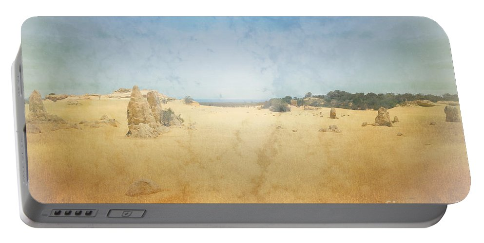Pinnacles Portable Battery Charger featuring the photograph The Pinnacles In Western Australia by Elaine Teague