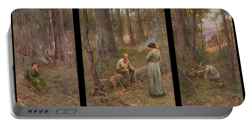 Frederick Mccubbin Portable Battery Charger featuring the painting The pioneer by Frederick McCubbin