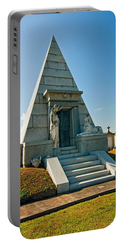 Metairie Cemetery Portable Battery Charger featuring the photograph The Point Of Dying by Steve Harrington