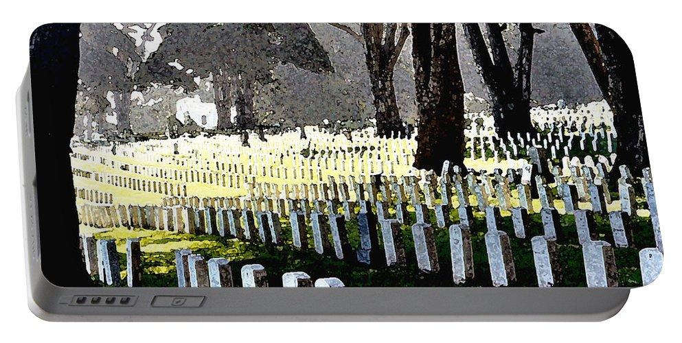 Tomb Stones Portable Battery Charger featuring the photograph The Presidio - San Francisco by Flamingo Graphix John Ellis