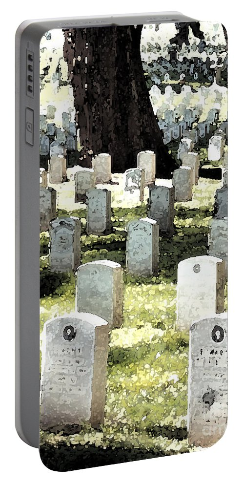 Tomb Stones Portable Battery Charger featuring the photograph The Presidio by Flamingo Graphix John Ellis
