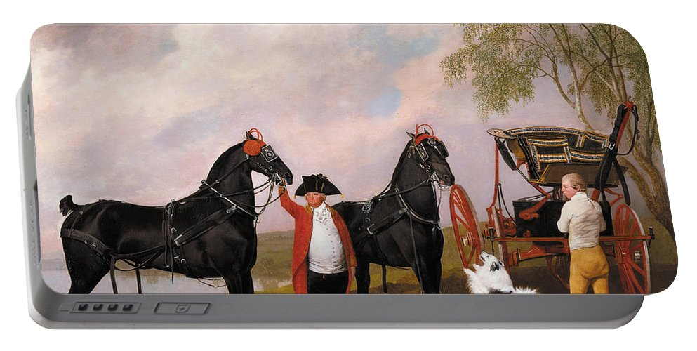 George Stubbs Portable Battery Charger featuring the painting The Prince Of Wales Phaeton by George Stubbs