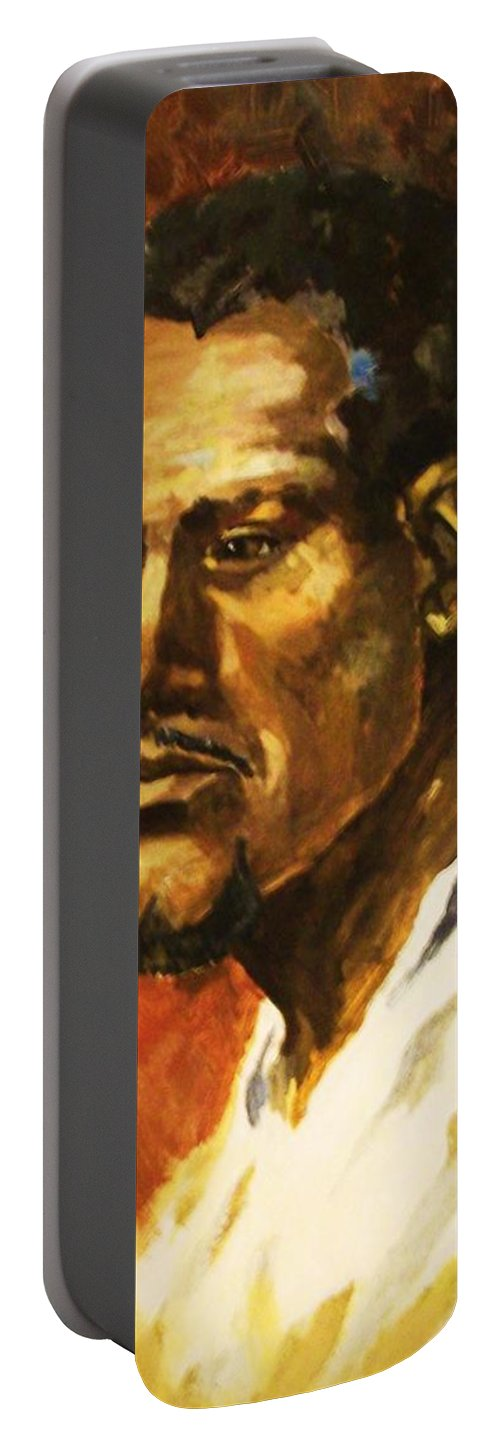 Portraits Portable Battery Charger featuring the painting The Prophet by Al Brown