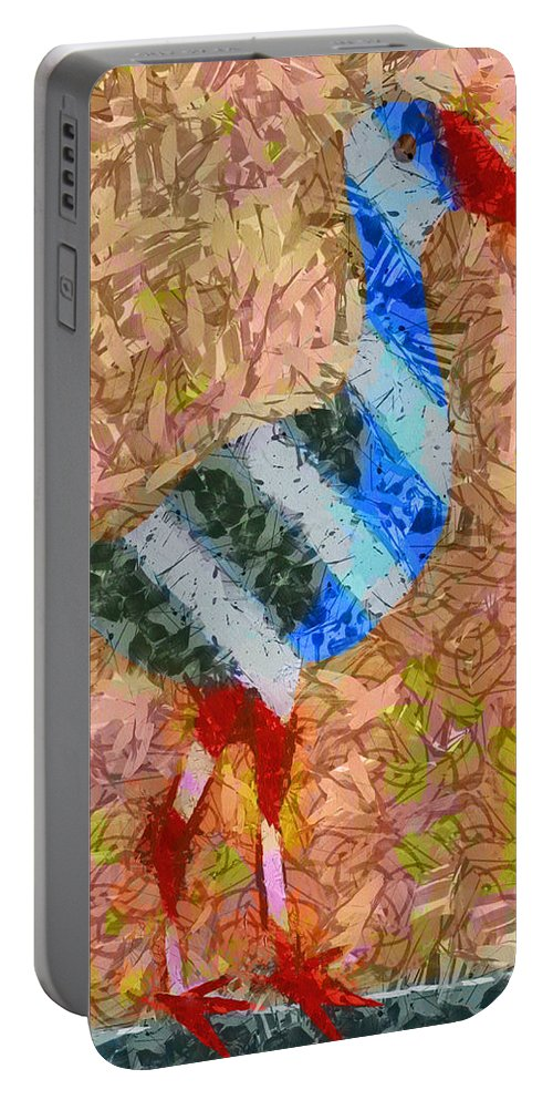 Pukeko Portable Battery Charger featuring the digital art The Pukeko by Steve Taylor