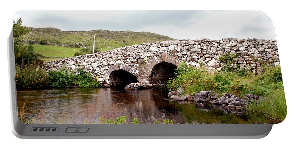 John Wayne Portable Battery Charger featuring the photograph The Quiet Man Bridge by Charlie and Norma Brock