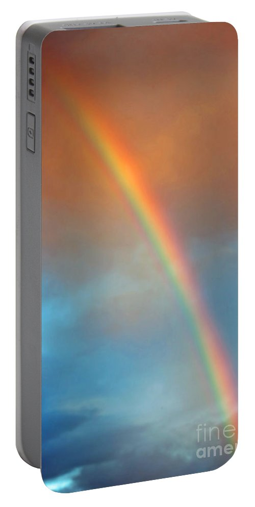 Rainbow Portable Battery Charger featuring the photograph The Rainbow by Gwyn Newcombe