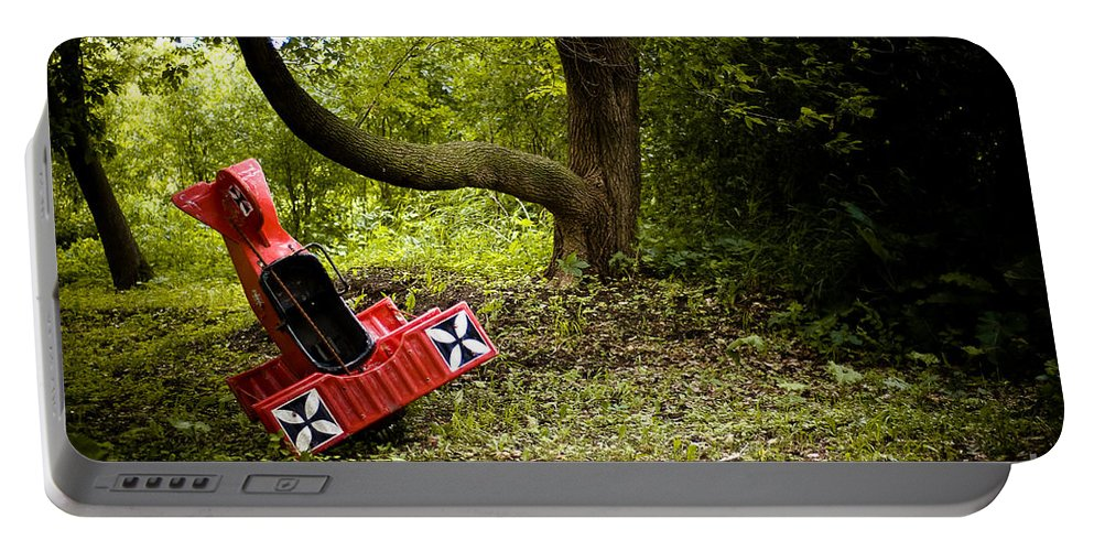 Transportation Portable Battery Charger featuring the photograph The Red Baron by Joe Mamer