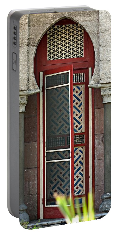 Red Door Portable Battery Charger featuring the photograph The Red Door by Bob Pardue
