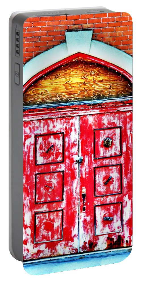 Butte Portable Battery Charger featuring the photograph The Red Door by Image Takers Photography LLC - Laura Morgan