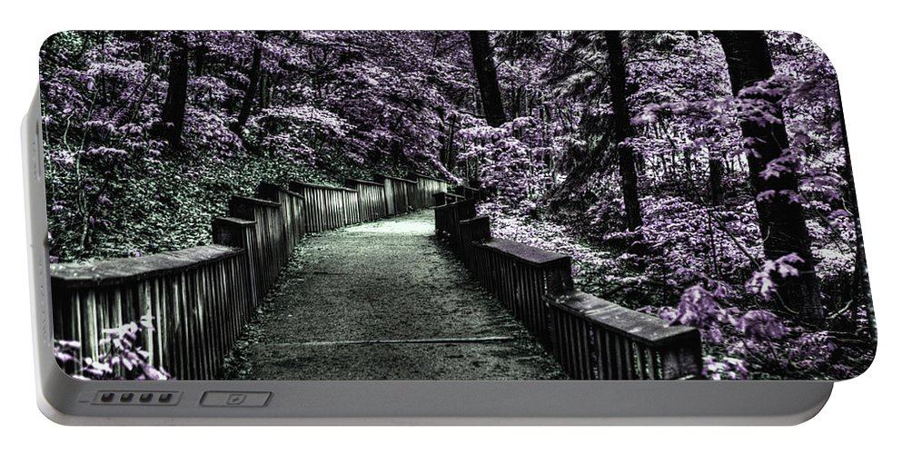 Evie Portable Battery Charger featuring the photograph The Road Less Travelled by Evie Carrier