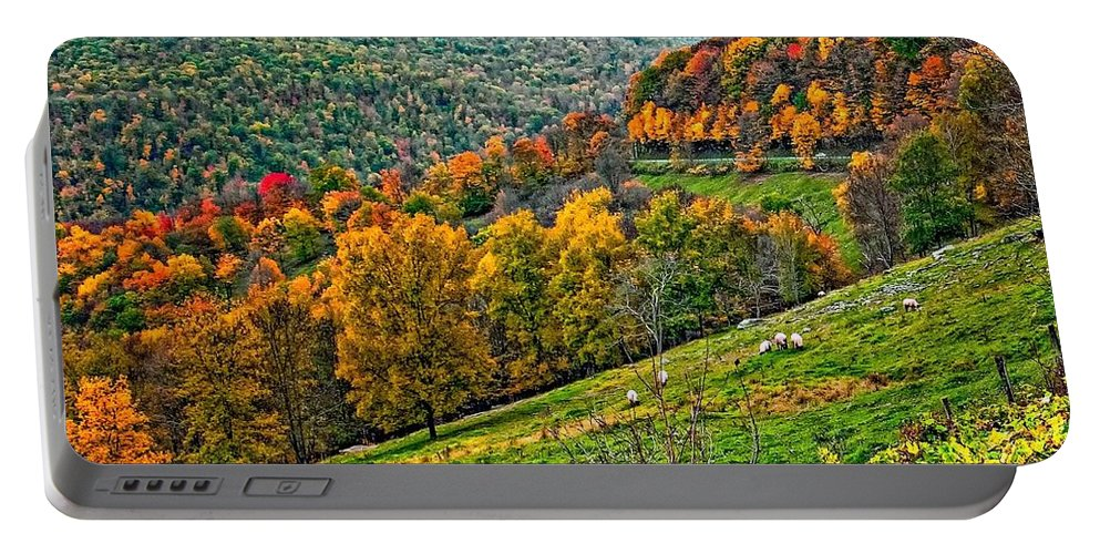 West Virginia Portable Battery Charger featuring the photograph The Road To Glady Wv by Steve Harrington