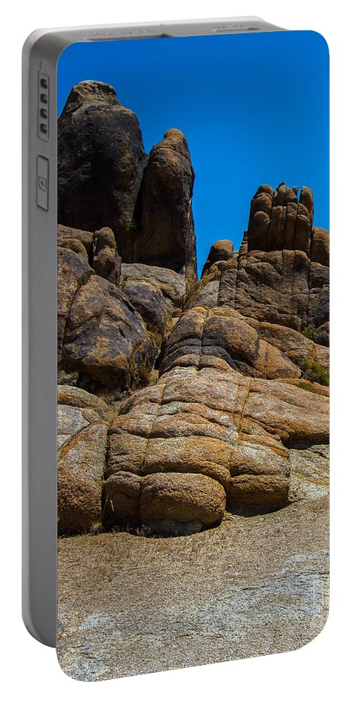 Rocks Portable Battery Charger featuring the photograph The Rock Formation by Stephen Whalen