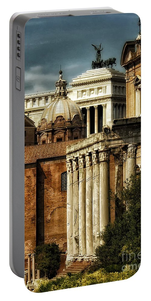 Rome Portable Battery Charger featuring the photograph The Roman Forum 2 by Mike Nellums
