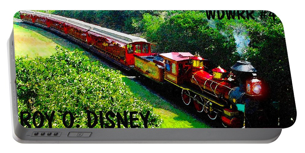Art Portable Battery Charger featuring the painting The Roy O. Disney by David Lee Thompson