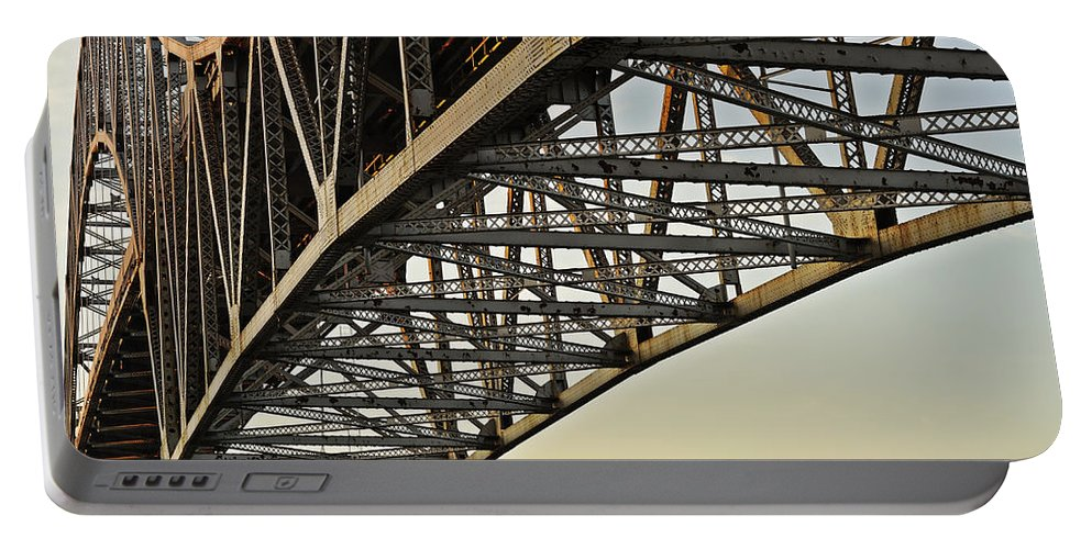 Sagamore Portable Battery Charger featuring the photograph The Sagamore Bridge by Luke Moore