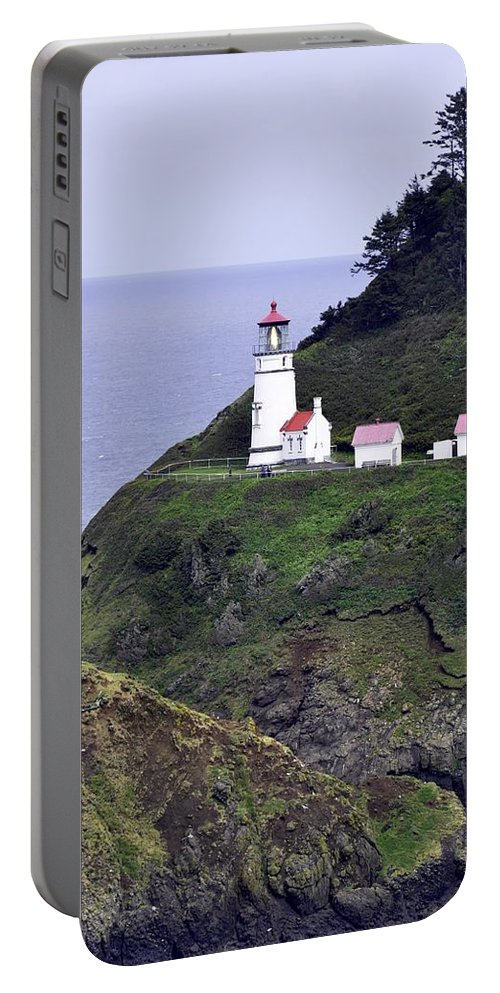 Heceta Head Portable Battery Charger featuring the photograph The Scenic Lighthouse by Image Takers Photography LLC - Laura Morgan