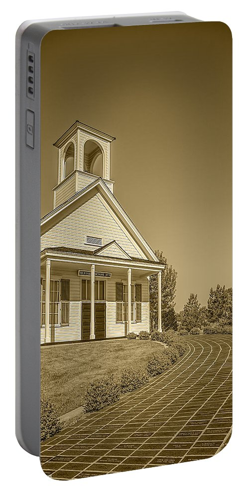 Architecture Portable Battery Charger featuring the photograph The Schoolhouse Hdr by LeeAnn McLaneGoetz McLaneGoetzStudioLLCcom