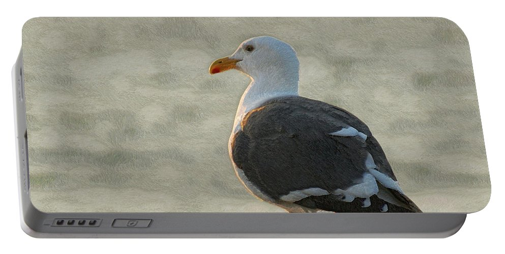 Seagull Portable Battery Charger featuring the photograph The Seagull by Ernie Echols