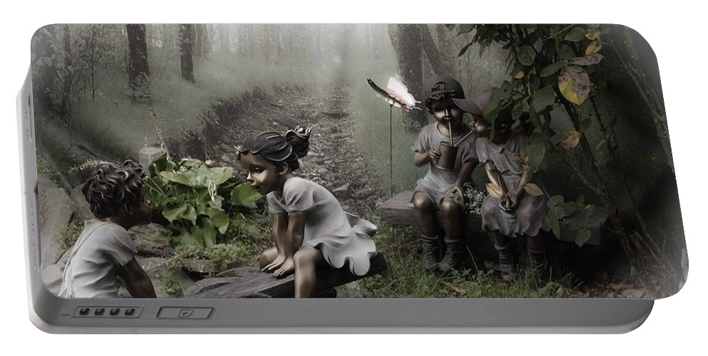 Garden Portable Battery Charger featuring the photograph The Secret Garden by Kathleen Odenthal