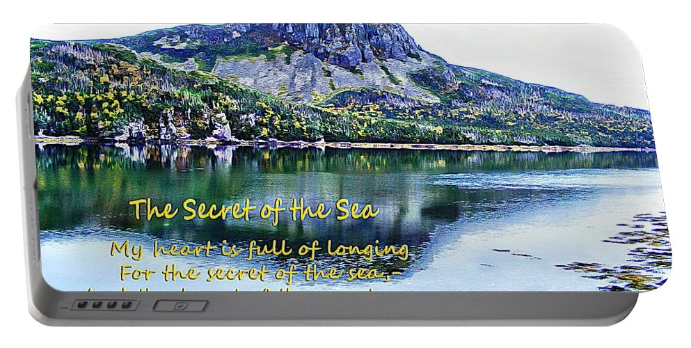 The Secret Of The Sea Portable Battery Charger featuring the photograph The Secret Of The Sea by Barbara Griffin