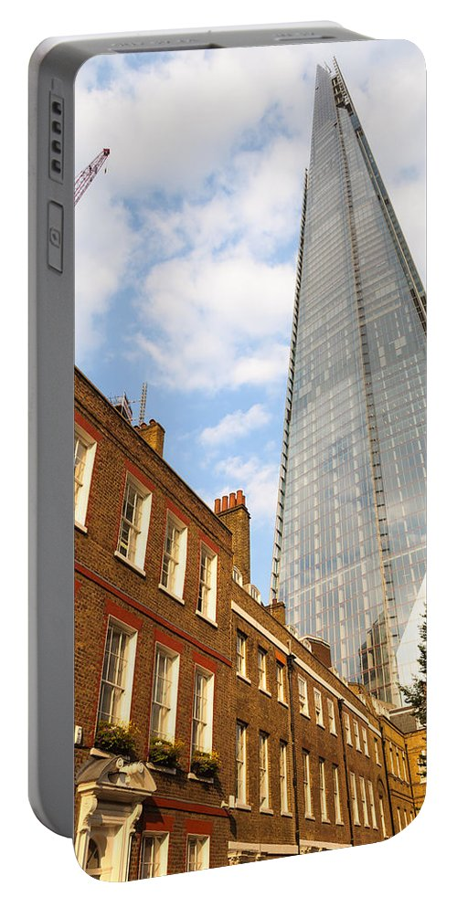 London Portable Battery Charger featuring the photograph The Shard In London by Dutourdumonde Photography