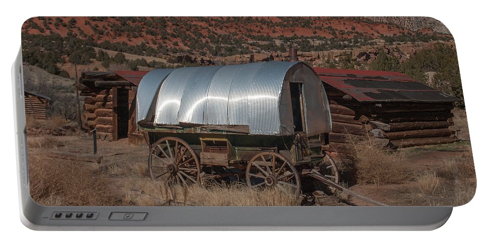 Sheep Camp Portable Battery Charger featuring the photograph The Sheep Wagon by Joshua House