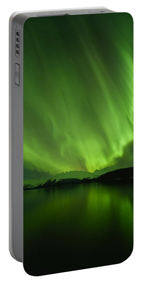 Aurora Portable Battery Charger featuring the photograph The Shining by Ted Raynor