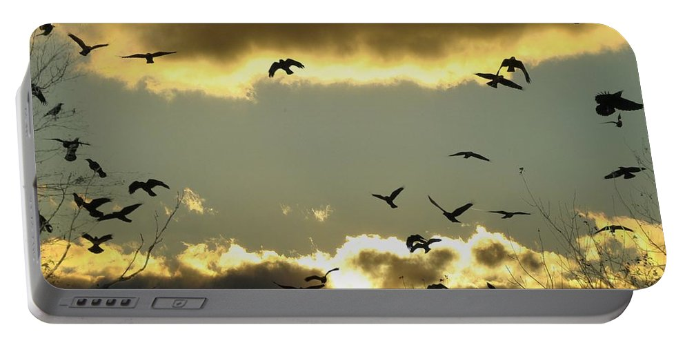 Clouds Portable Battery Charger featuring the photograph The Sky Opened by Gothicrow Images
