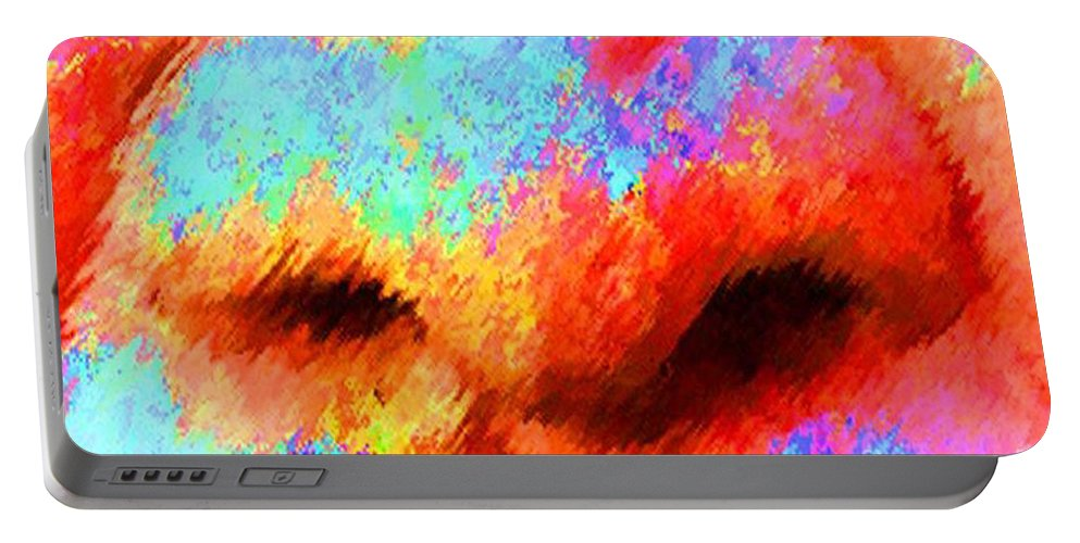Nose Portable Battery Charger featuring the painting The Smell Of Color by Jost Houk