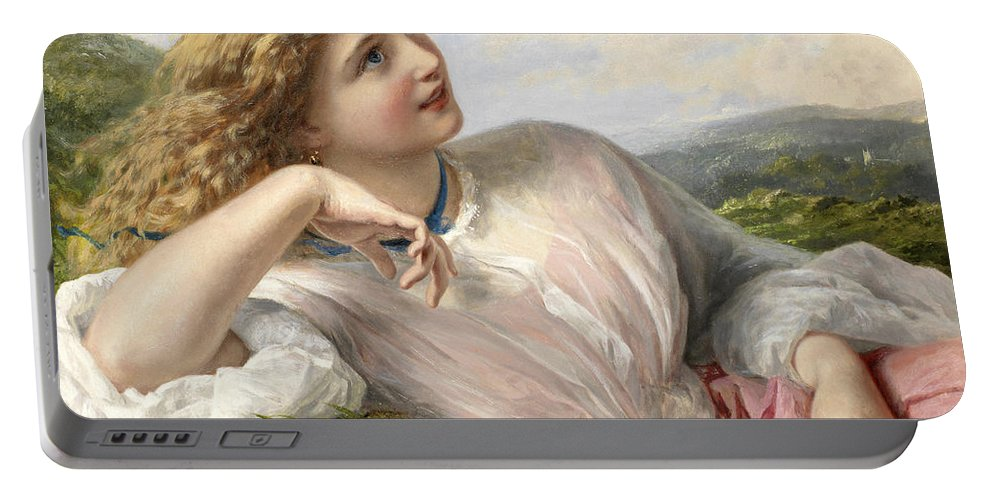 Young Portable Battery Charger featuring the photograph The Song Of The Lark by Munir Alawi