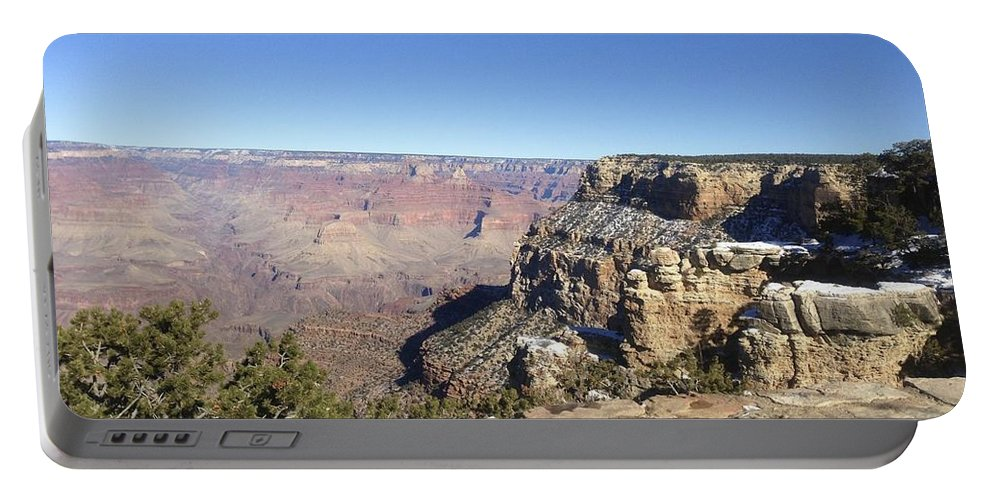 Grand Canyon Portable Battery Charger featuring the photograph The South Rim In The Winter by Christy Gendalia