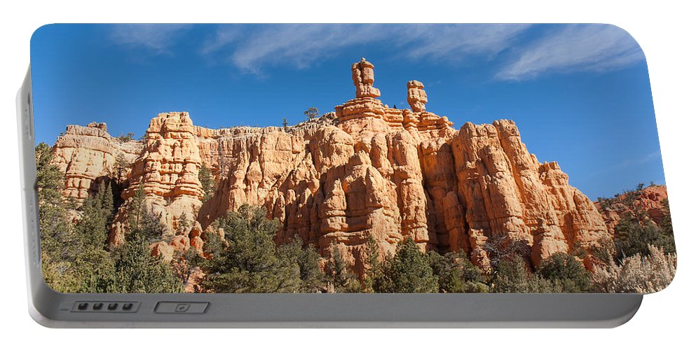 Red Canyon State Park Portable Battery Charger featuring the photograph The Speaker And The Seer by John M Bailey