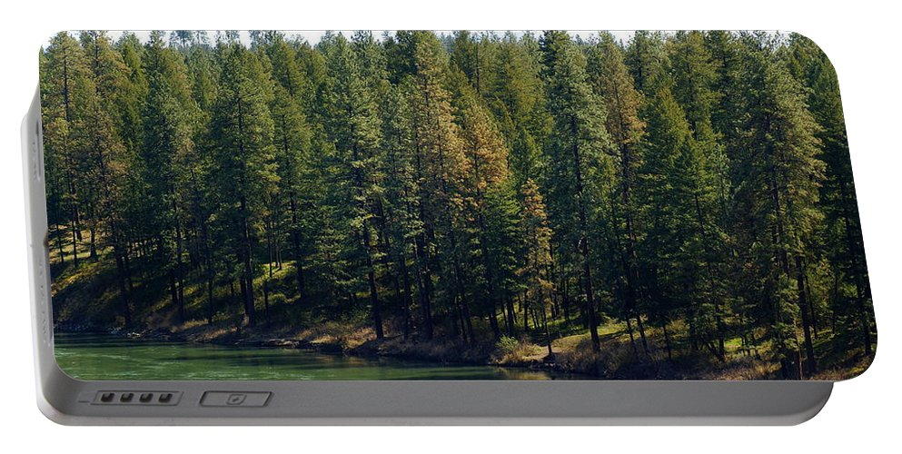 River Portable Battery Charger featuring the photograph The Spokane River On Easter Sunday 2014 by Ben Upham III