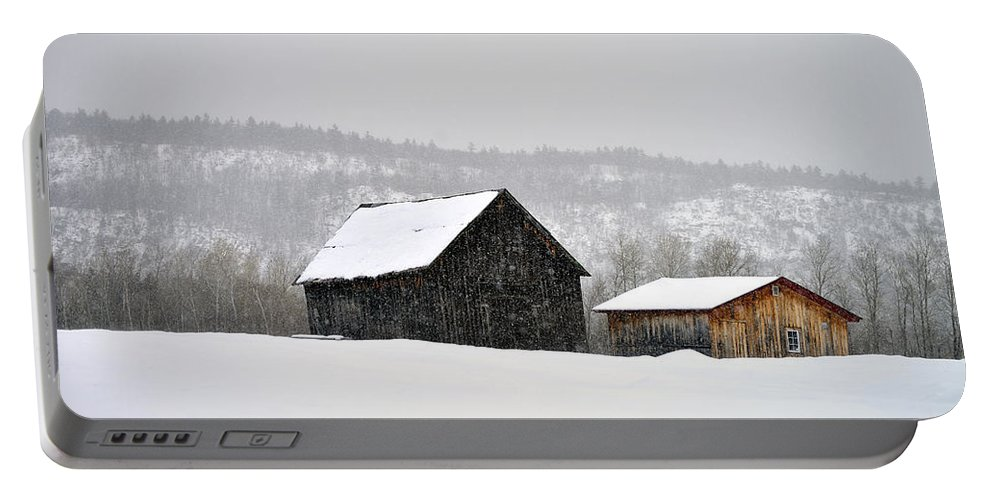 Barn Portable Battery Charger featuring the photograph The Steele Line by Joshua McCullough