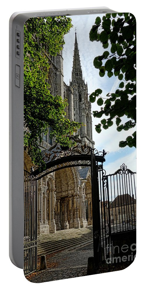France Portable Battery Charger featuring the photograph The Steeple And The Gate by Olivier Le Queinec