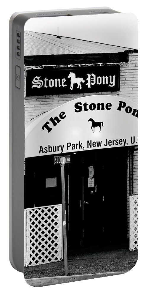 Stone Pony Portable Battery Charger featuring the photograph The Stone Pony Asbury Park NJ by Terry DeLuco