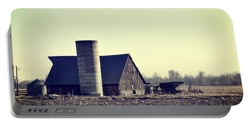Barn Portable Battery Charger featuring the photograph The Story by Image Takers Photography LLC