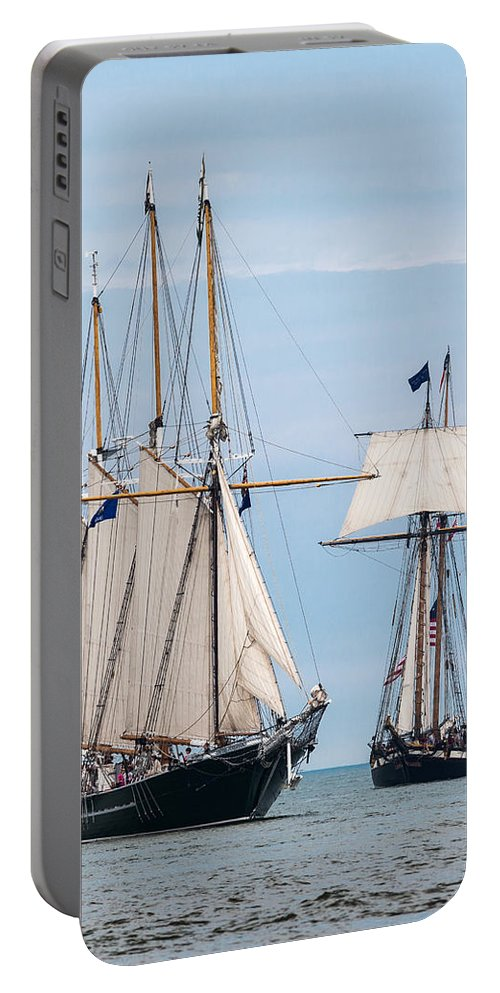 Tall Ships Portable Battery Charger featuring the photograph The Tall Ships by Dale Kincaid