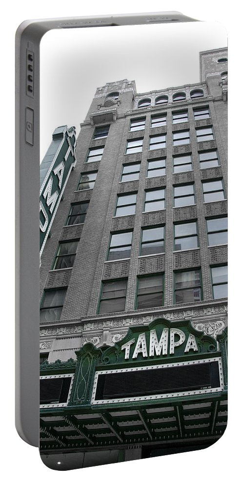 Vintage Portable Battery Charger featuring the photograph The Tampa Theatre by Beverly Stapleton