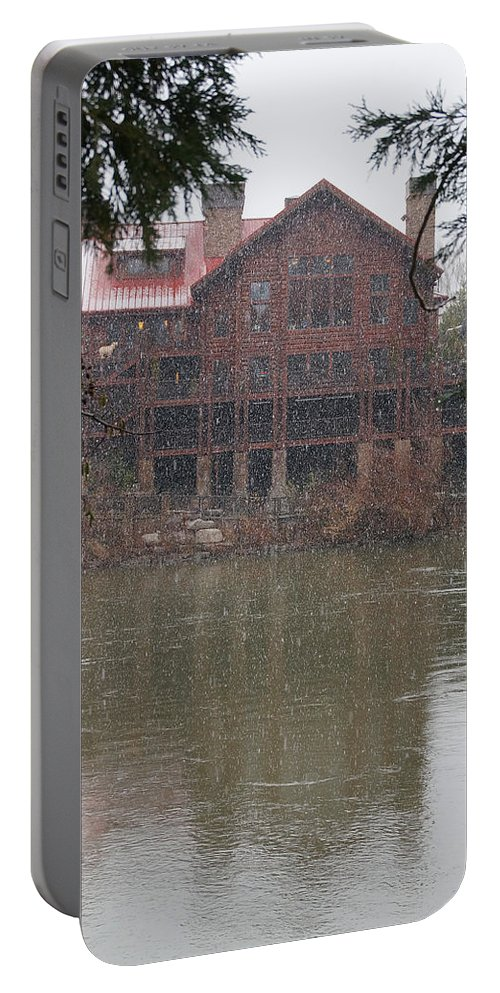 Taprock Portable Battery Charger featuring the photograph The Taprock In Winter by Mick Anderson