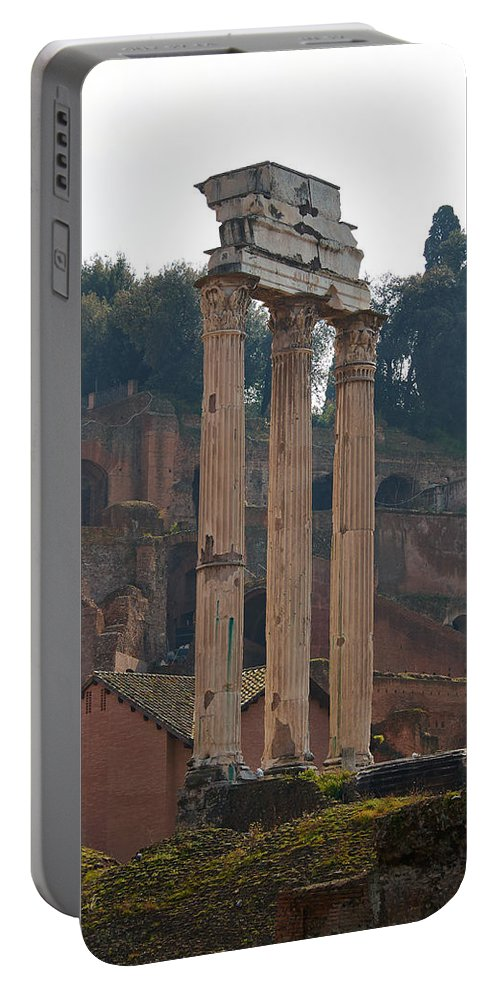 2013. Portable Battery Charger featuring the photograph The Temple Of Castor And Pollux by Jouko Lehto