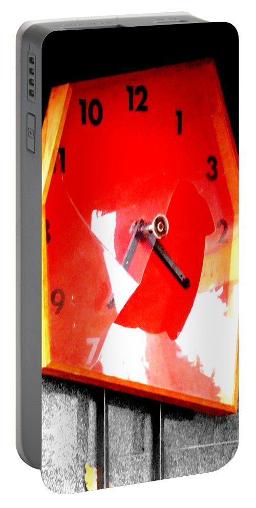 Time Portable Battery Charger featuring the photograph The Times They Are A Changing by Steve Taylor