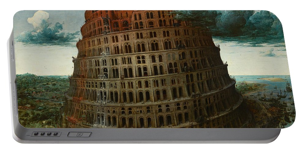 Pieter Bruegel The Elder Portable Battery Charger featuring the painting The Tower Of Babel by Pieter Bruegel the Elder