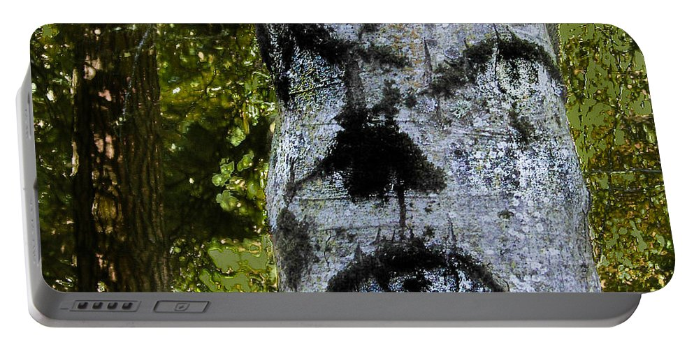 Trees Portable Battery Charger featuring the photograph The Trees Are Watching by Susan Eileen Evans