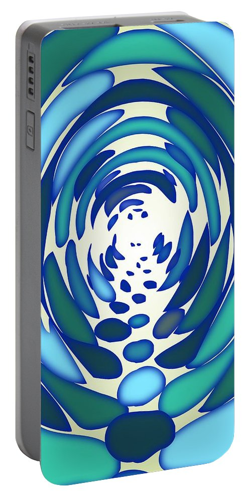 Abstract Portable Battery Charger featuring the digital art The Tunnel by Anastasiya Malakhova