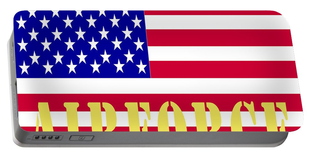 Barbara Snyder Portable Battery Charger featuring the digital art The United States Airforce by Barbara Snyder