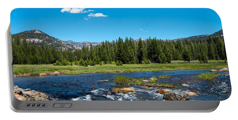 Mammoth Lakes Portable Battery Charger featuring the photograph The Valley by Stephen Whalen